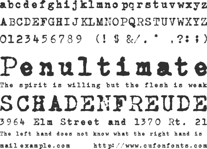 CarbonType font preview