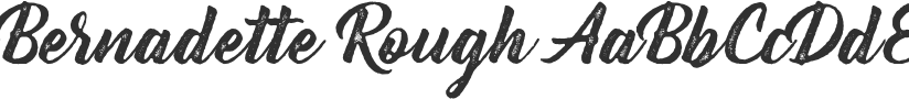 Bernadette Rough font download