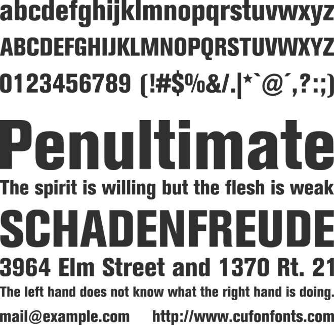 Berthold Akzidenz Grotesk BE font preview