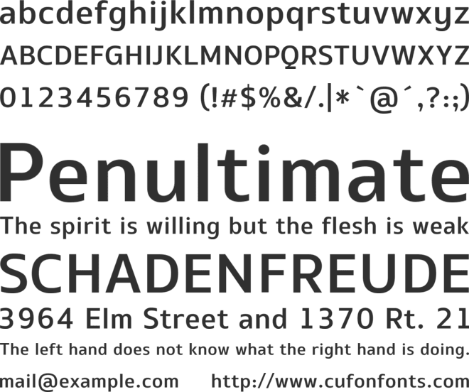 EQPro-Medium font preview