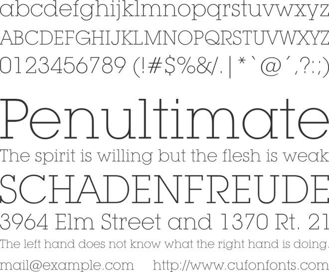 ITC Lubalin Graph font preview