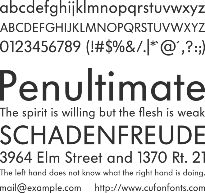 VW Headline Book font preview