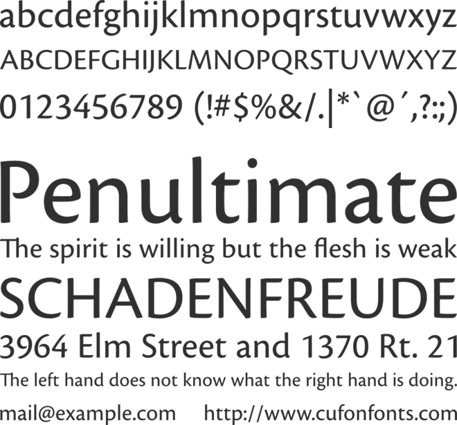 CronosPro font preview