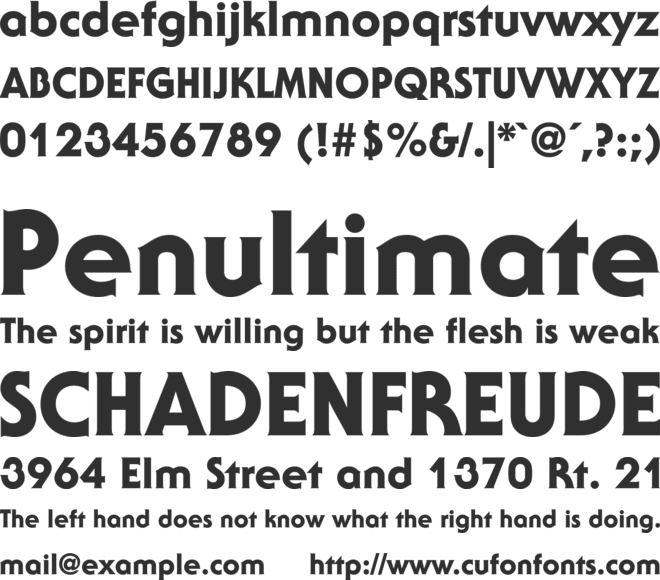 ITC Serif Gothic font preview