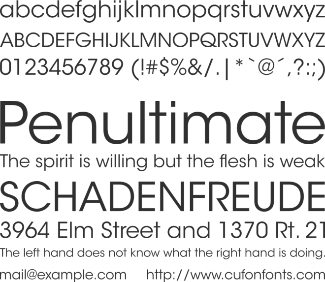 ITC Avant Garde Gothic Std Book font preview