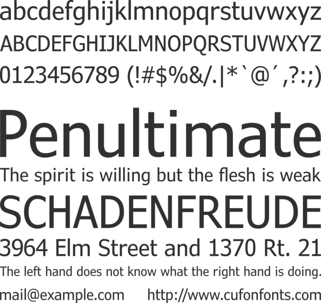 Verdana Pro Cond font preview