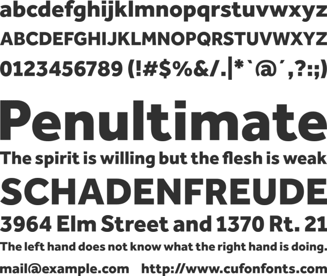 Effra Heavy font preview
