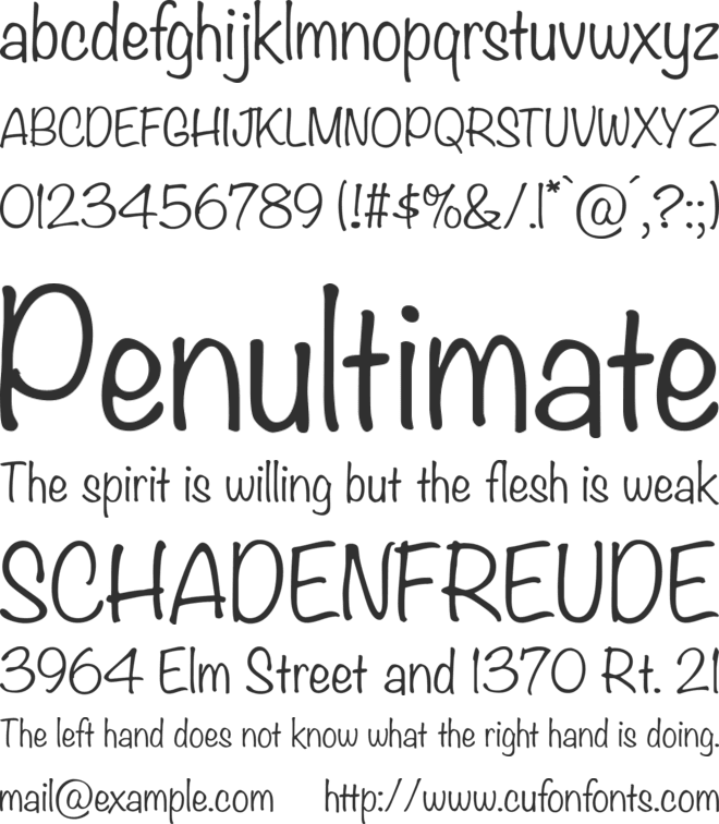 Noteworthy font preview