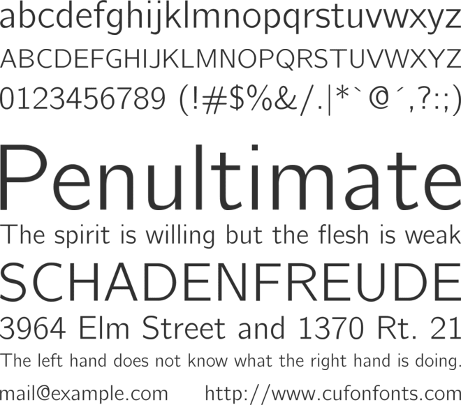 CMU Bright font preview