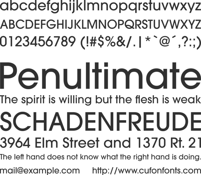 ITC Avant Garde Pro Md font preview