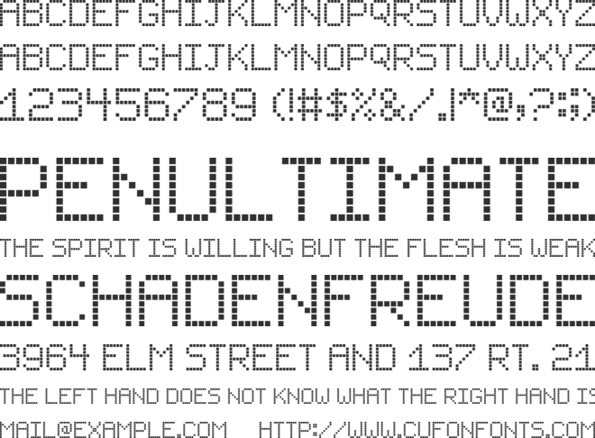 Small LCD Sign font preview