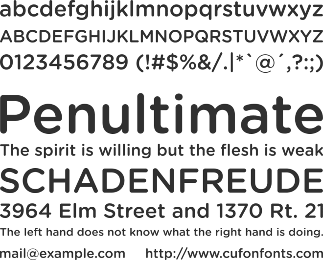 Gotham Rounded Medium font preview