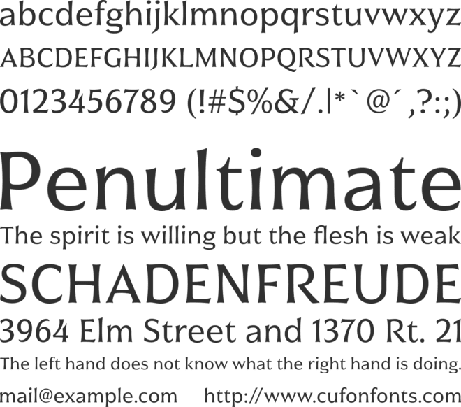 Civane Norm Regular font preview