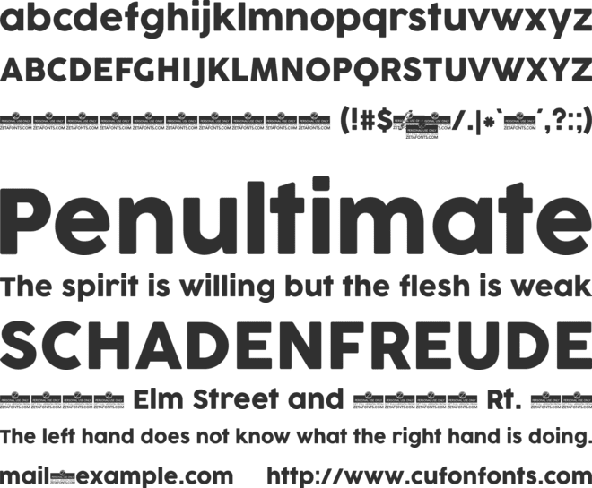 Cocogoose Pro font preview