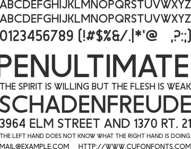 Cute Zealand font preview