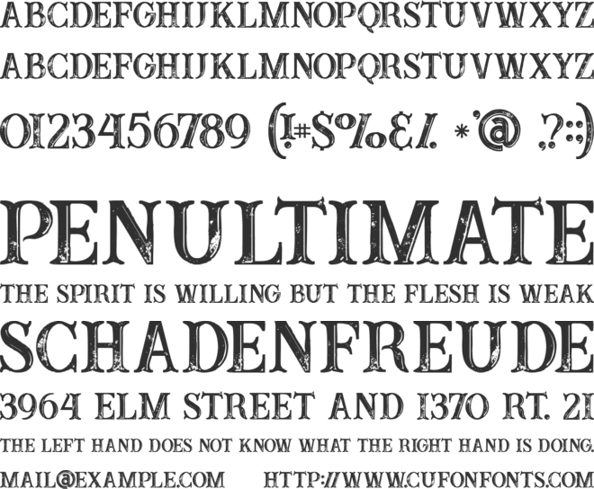 Buffalo Inline 2 Grunge font preview