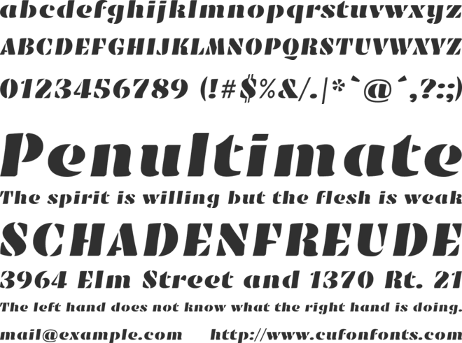 Emblema One font preview