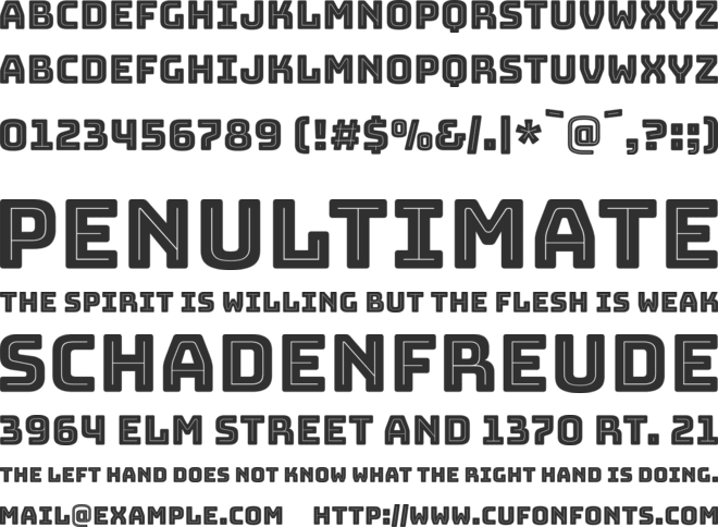 Bungee Inline font preview