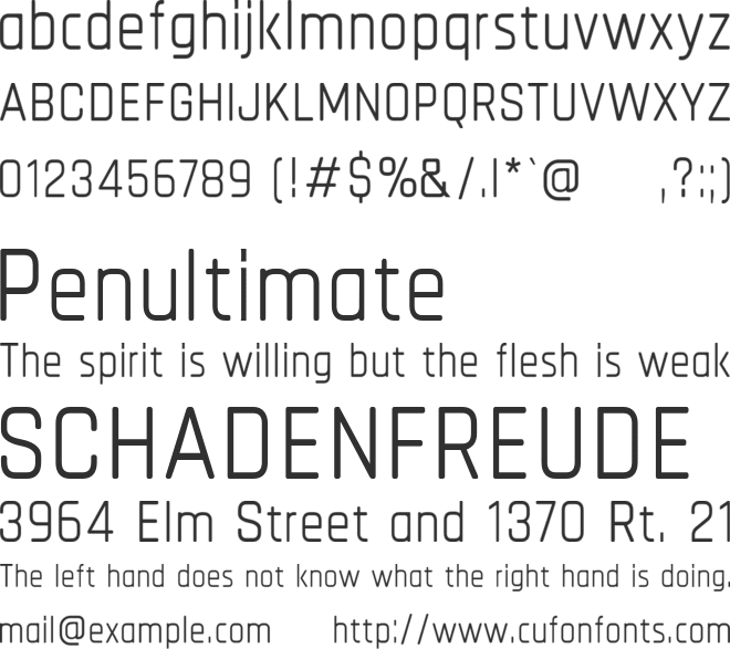 Chathura font preview