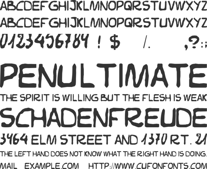 Elvifrance font preview