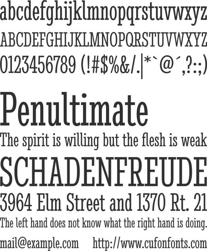 Stint Ultra Condensed font preview