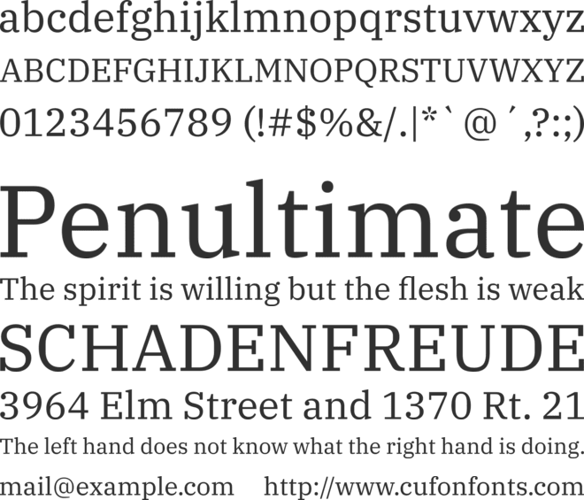 IBM Plex Serif font preview