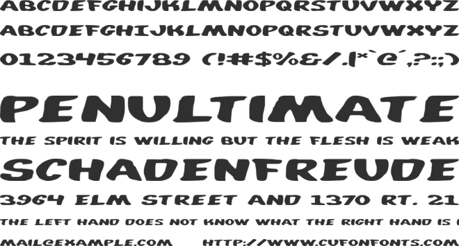 Diego Con font preview