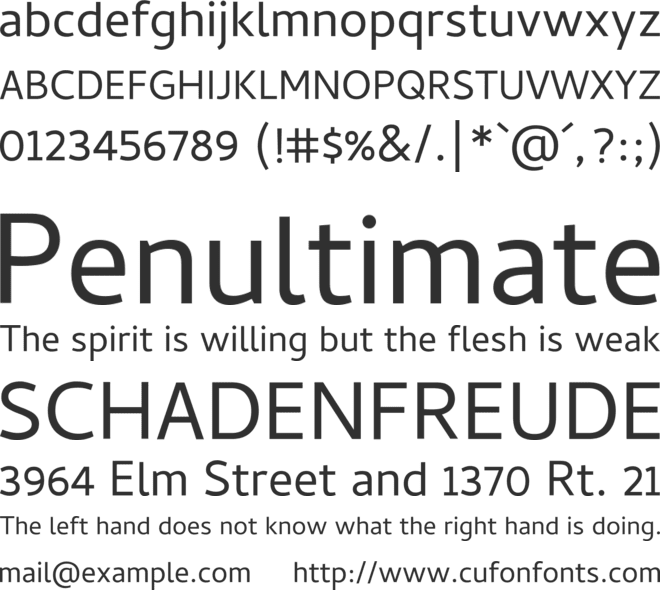 Cambay font preview