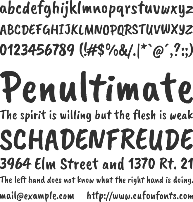 Caveat Brush font preview