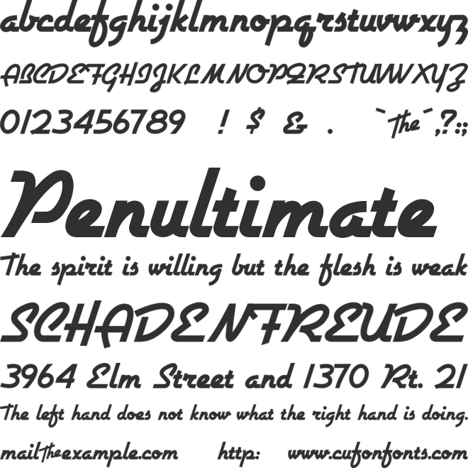 Airstream font preview