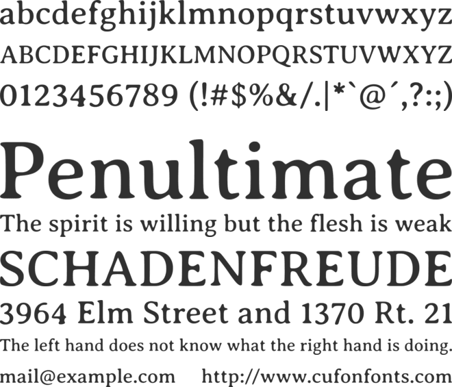 Averia Serif Libre font preview
