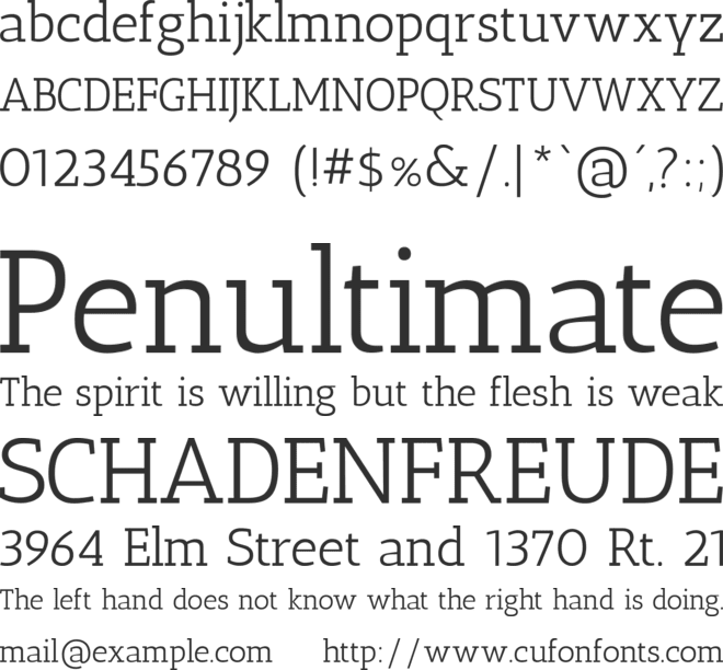 Antic Slab font preview