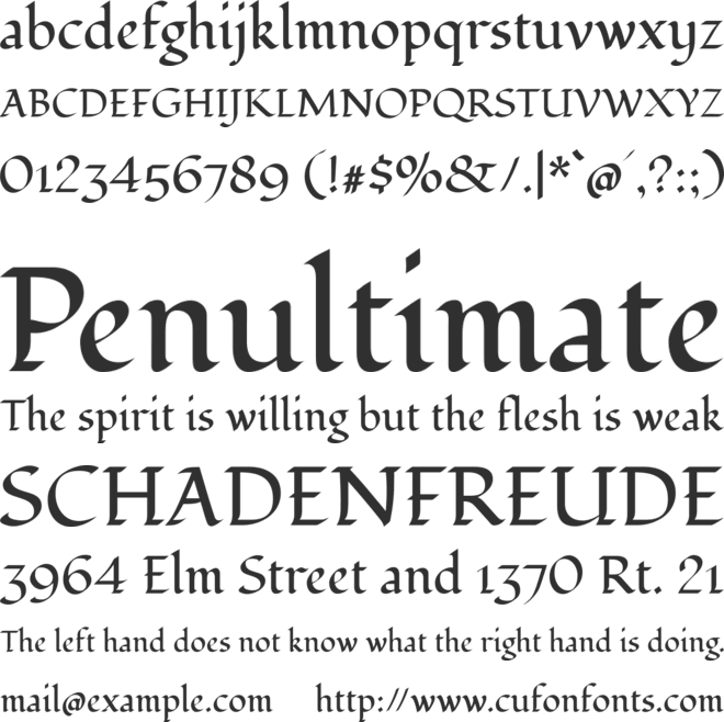 Fondamento font preview