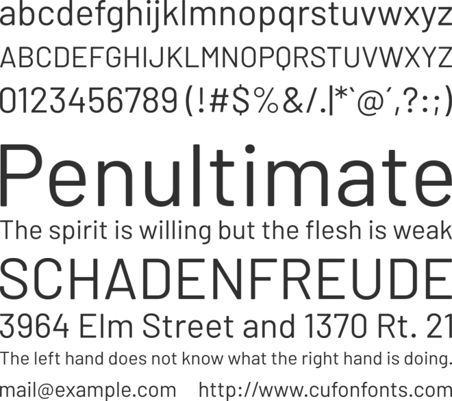 Barlow font preview