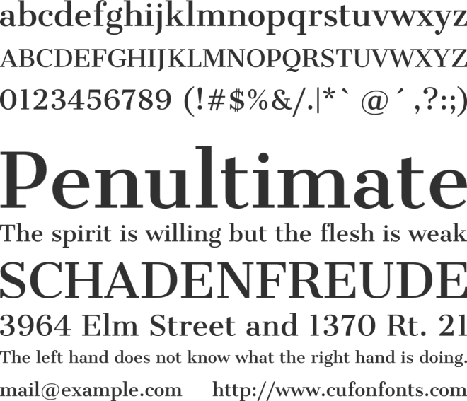 Cantata One font preview