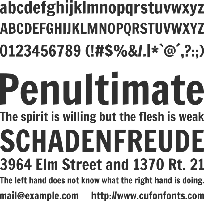 Francois One font preview