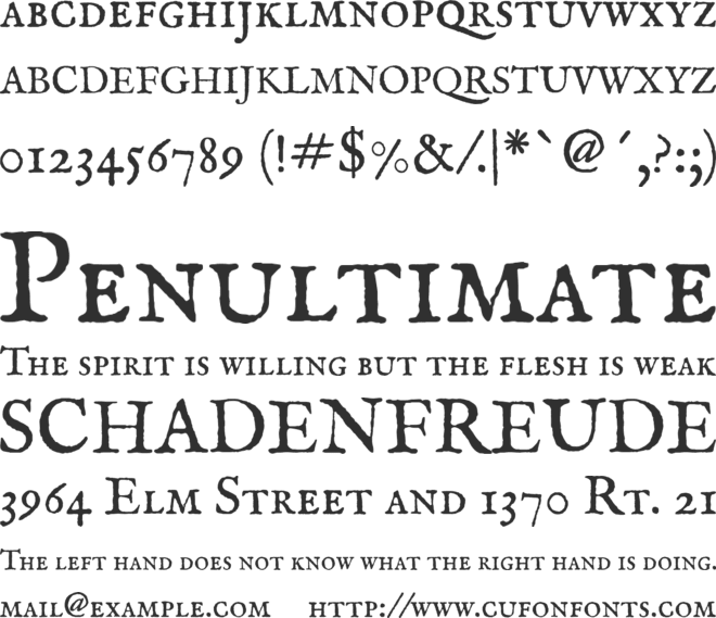 IM FELL English SC font preview