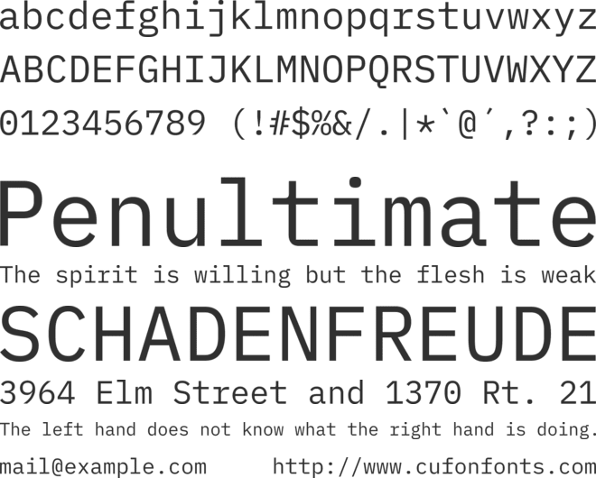 IBM Plex Mono font preview
