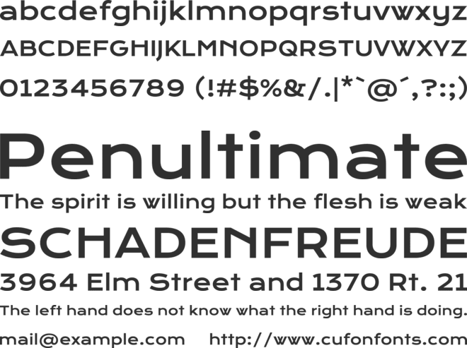 Krona One font preview