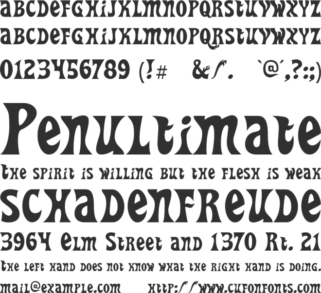 Heavy Heap font preview