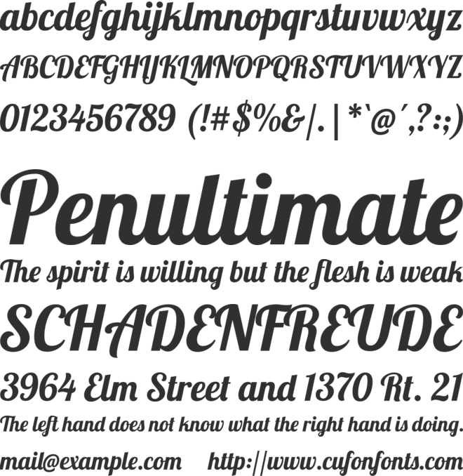 Lobster font preview
