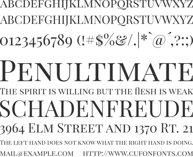 Playfair Display SC font preview