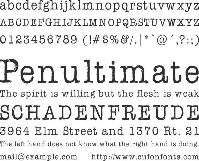 AmerType Md BT font preview