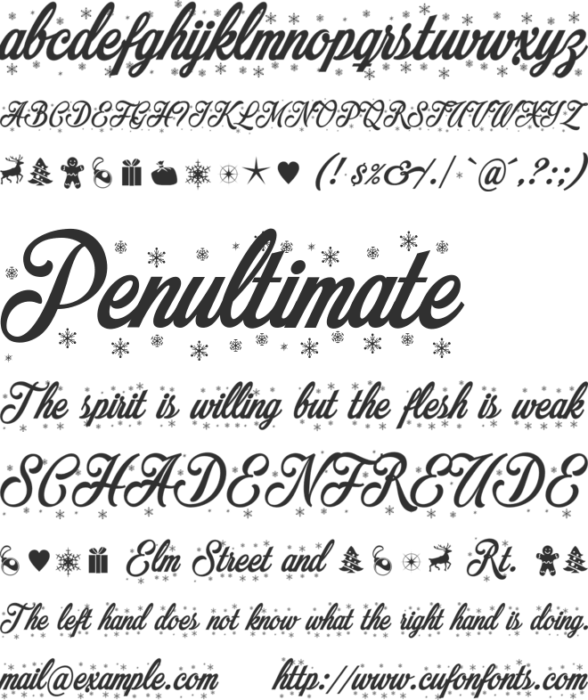 Merry Christmas Flake font preview
