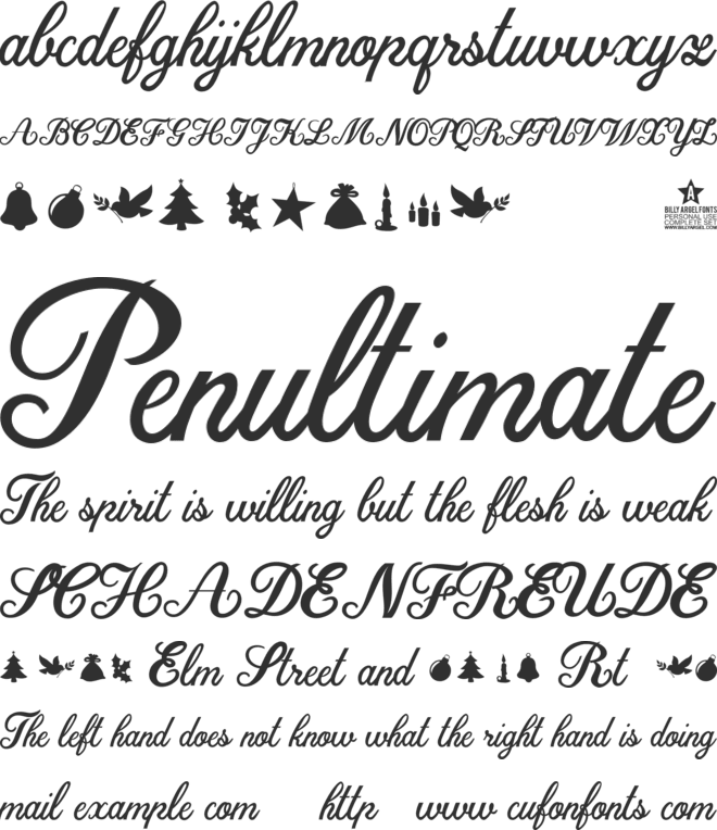 Christmas Time Personal Use font preview