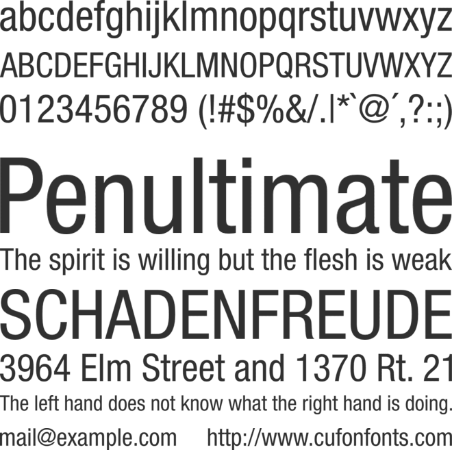 Helvetica Neue LT Std font preview