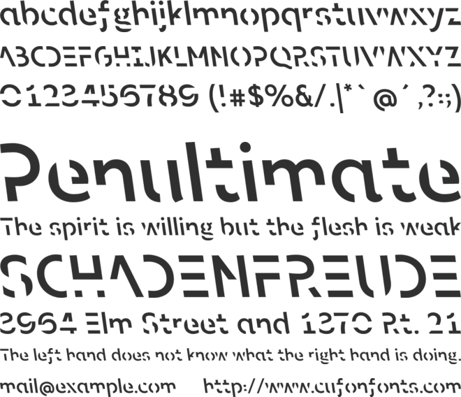 Sans Forgetica font preview