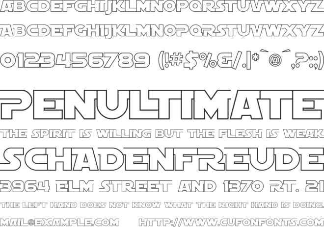 SF Distant Galaxy AltOutline font preview