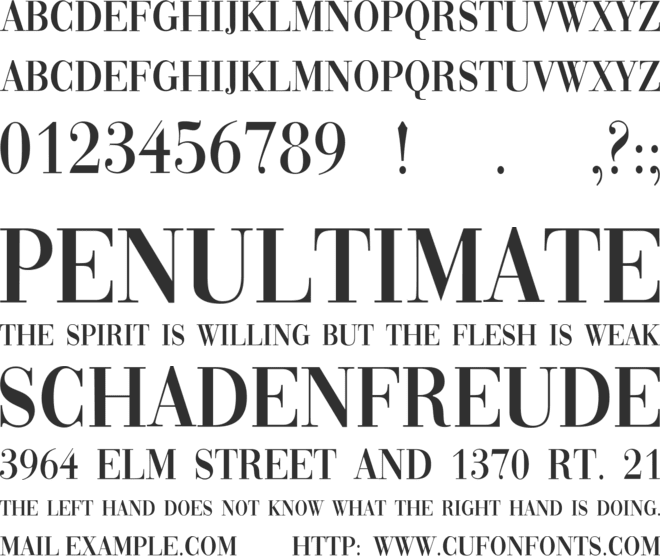 Vogue font preview