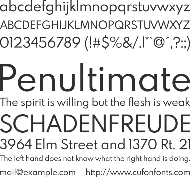 Spartan MB font preview